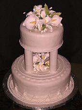 2 Tier Fondant Wedding Cake