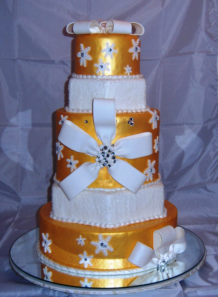 5-Tier Wedding Cake with Bling