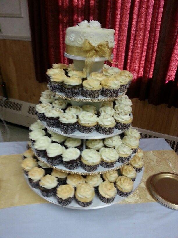 50th Anniversary Cupcake Cake Ideas