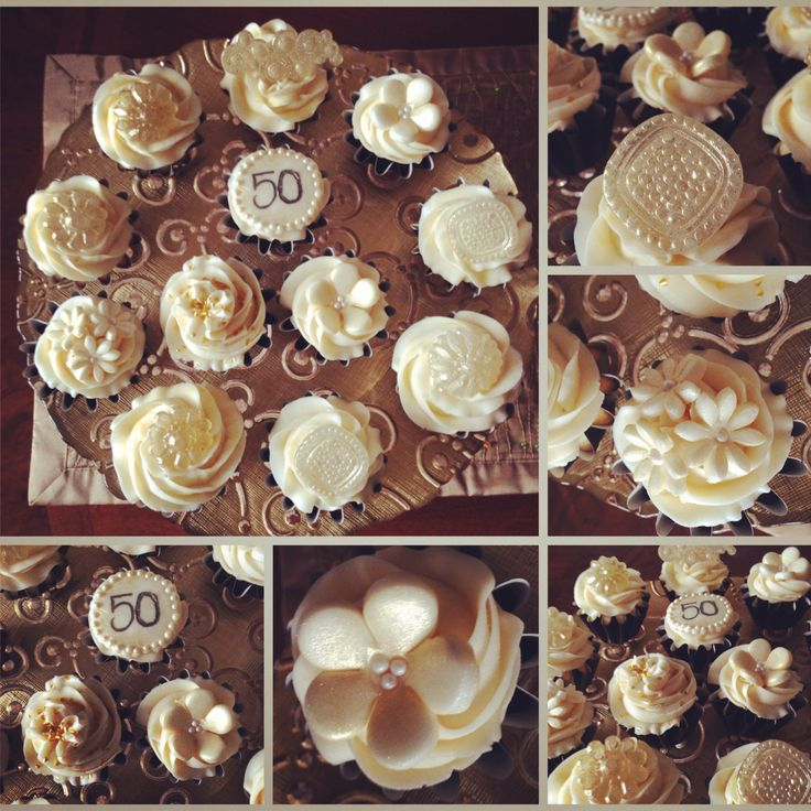 50th Anniversary Cupcake Ideas