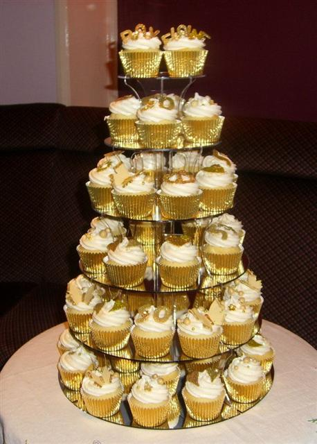50th Wedding Anniversary Cake Cupcake Tower