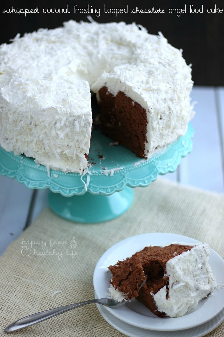 Angel Food Cake with Chocolate Frosting