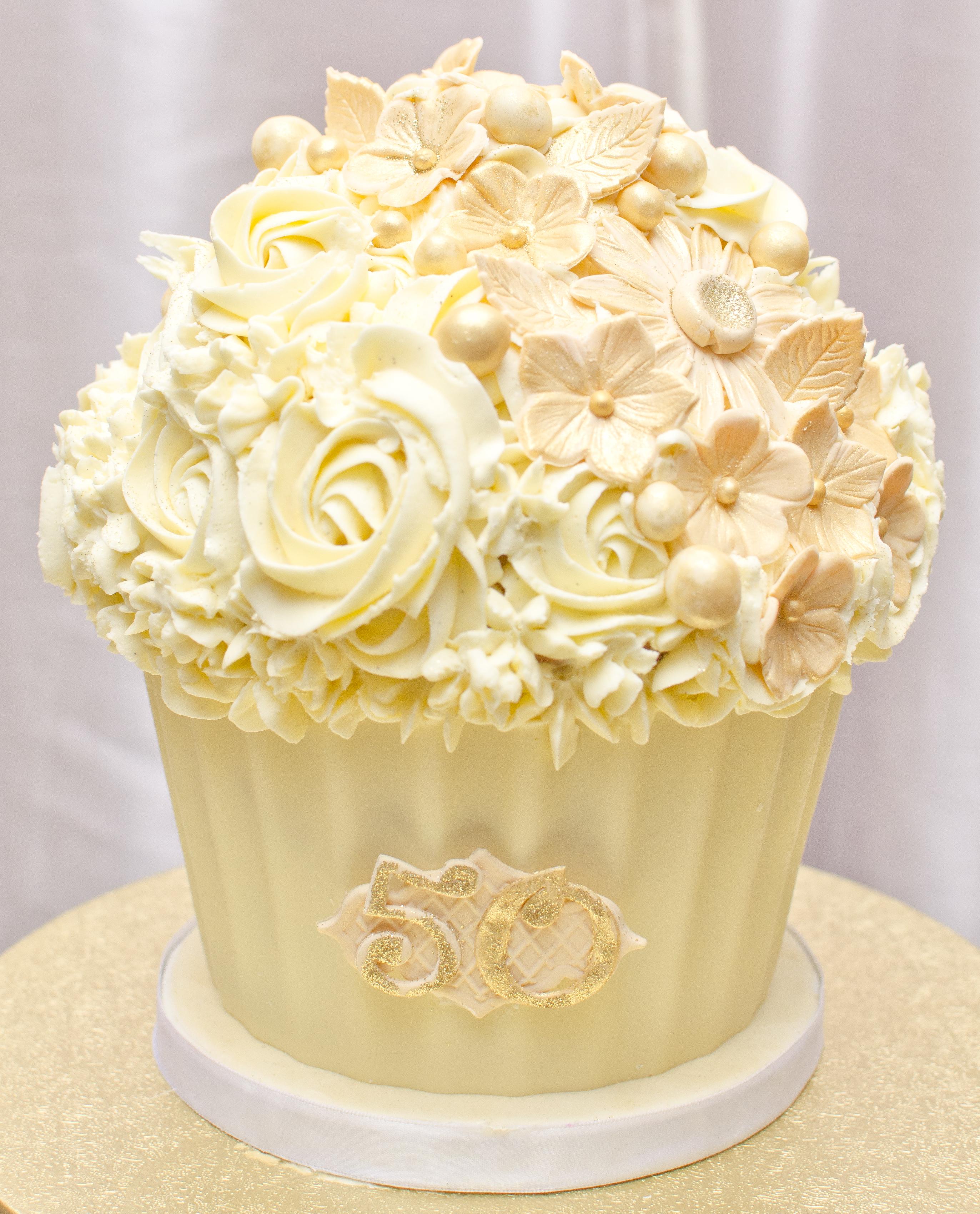 Anniversary Giant Cupcake Cake