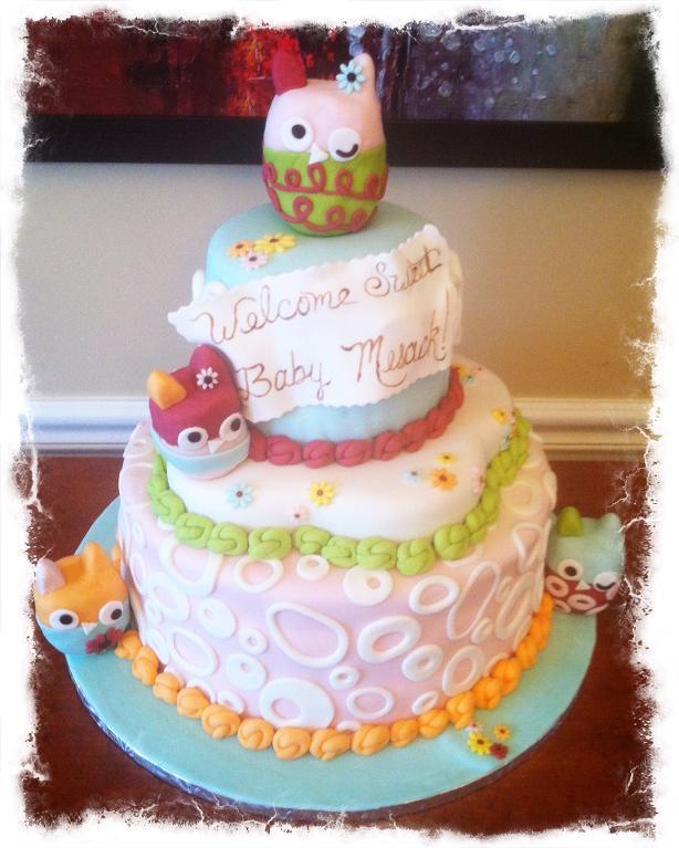 Baby Shower Cake Decorating With Fondant