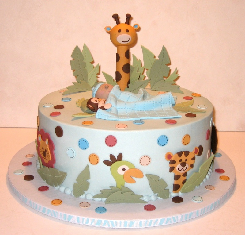 Baby Shower Jungle Cake Decorations