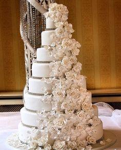 Big Roses Wedding Cake