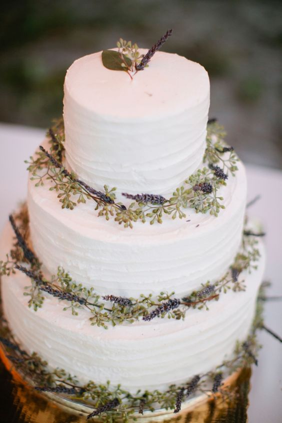 Boho Vintage Wedding Cake