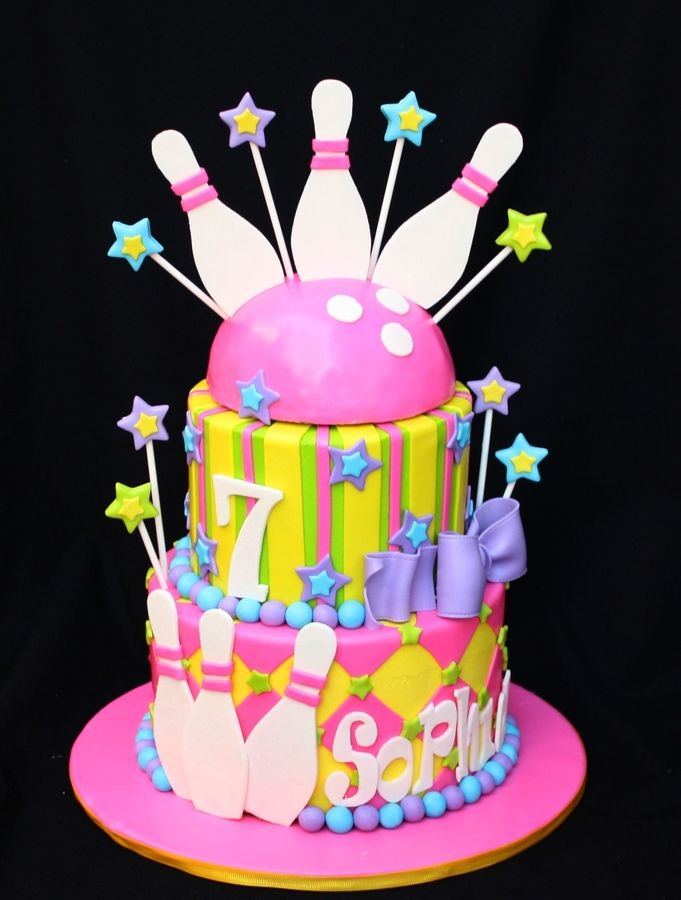 Peachy 11 Girls Bowling Party Cakes Photo Bowling Birthday Cake Ideas Personalised Birthday Cards Veneteletsinfo
