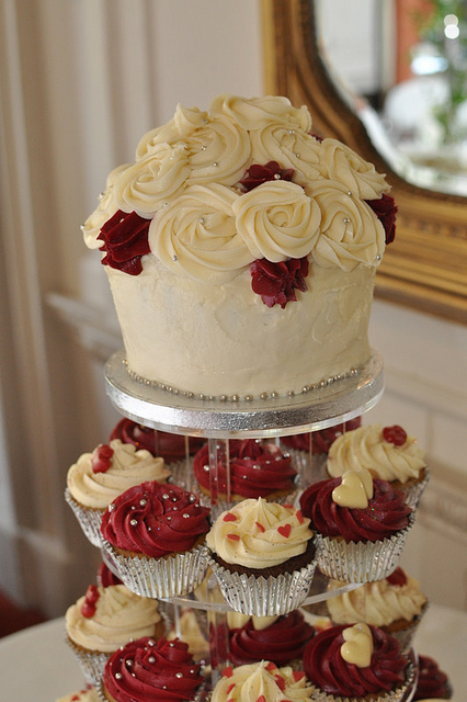 Burgundy and Cream Wedding