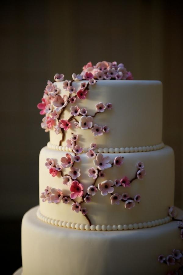 Cherry Blossom Wedding Cake Fondant