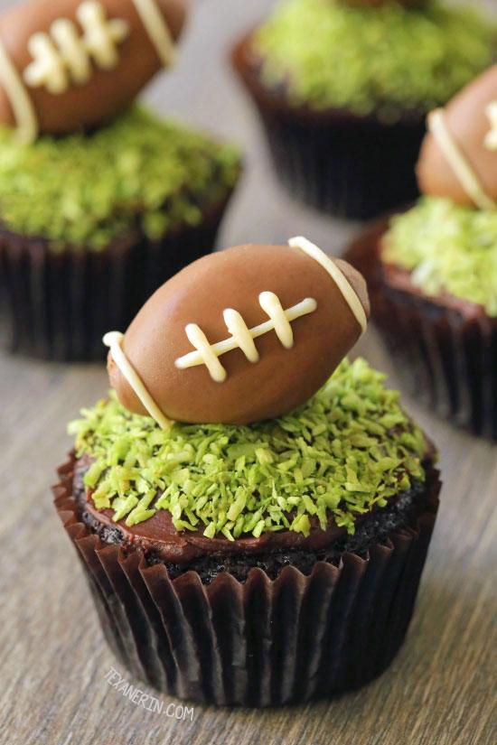 Chocolate Football Cupcakes