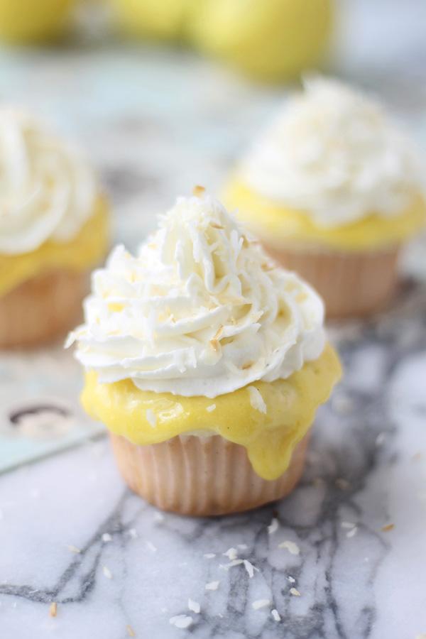 9 Photos of Curry Lemon Curd Coconut Cupcakes