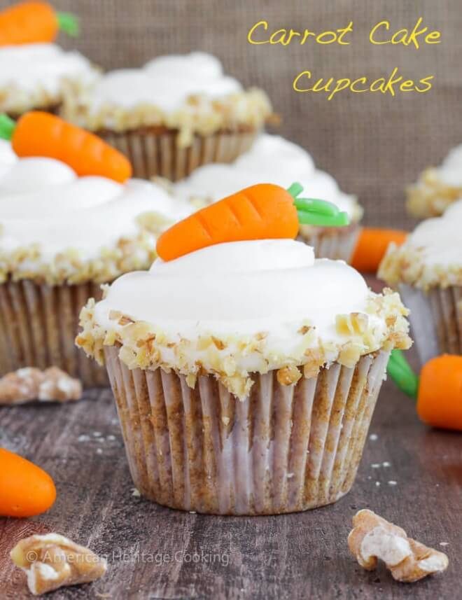 Cream Cheese Frosting Carrot Cake Cupcakes