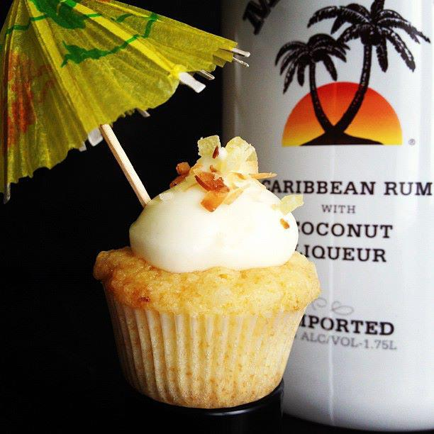 Cupcakes Infused with Coconut Rum