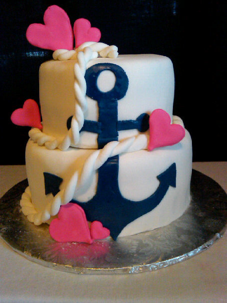 12 Photos of Pink Anchor Themed Cakes