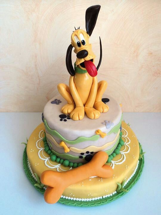 Disney Pluto Birthday Cake