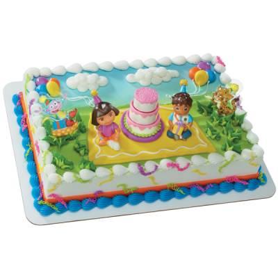 10 Photos of Dora Theme Birthday Cakes Publix