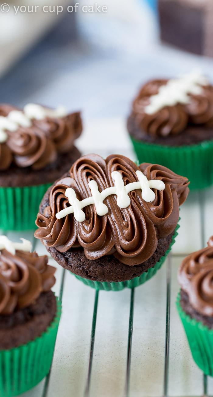 Easy Football Cupcakes