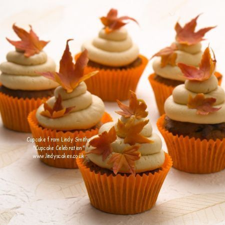 Fall Leaves Cupcake Decorations