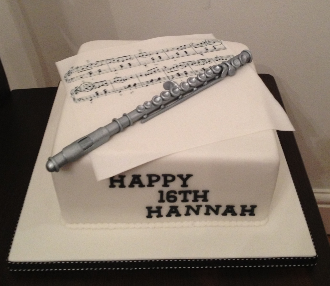 7 Photos of Flute Birthday Cakes Girls