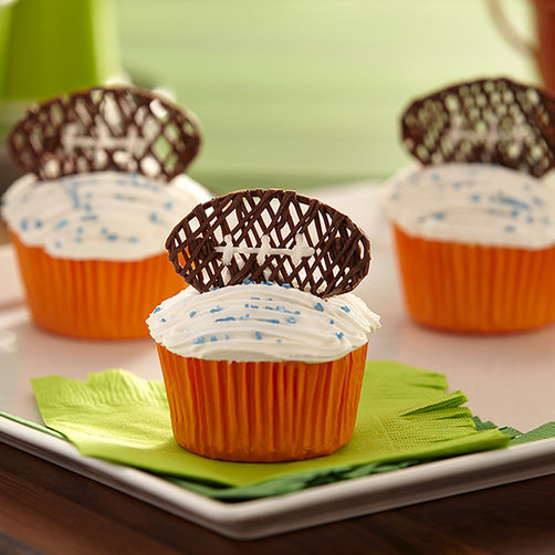 Football Candy Cupcake Toppers
