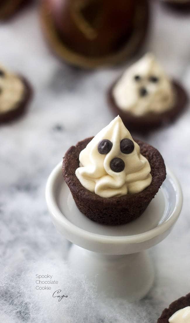 Ghost Halloween Peanut Butter Cookies