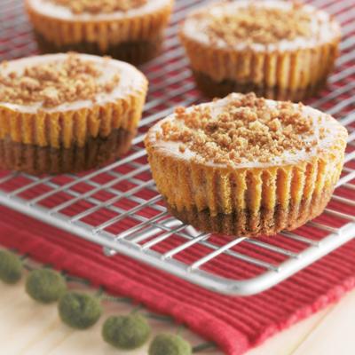 10 Photos of Pumpkin Gingerbread Mini Cheesecakes