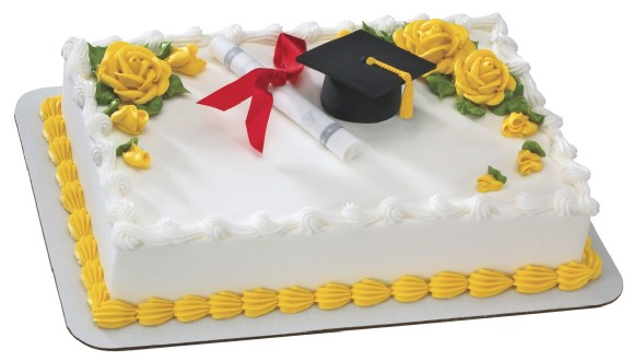 10 Photos of Graduation Sheet Cakes With A Hat And Diploma