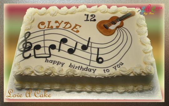 11 Photos of Guitarist Birthday Themed Cakes