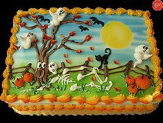 Halloween Sheet Cake Ideas