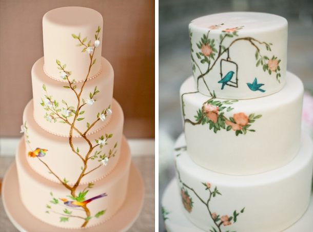 9 Photos of Painted Fondant Wedding Cakes