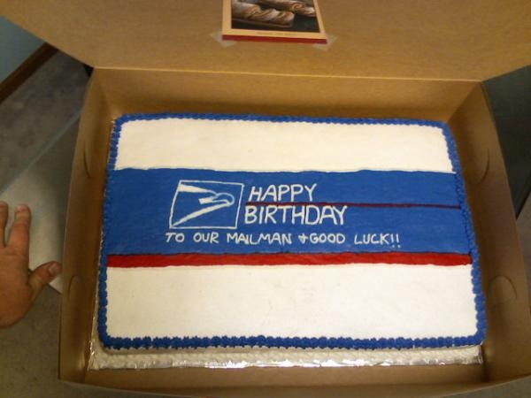 Happy Birthday Mailman Cake