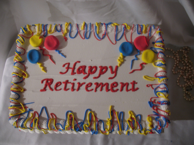 Happy Retirement Sheet Cake