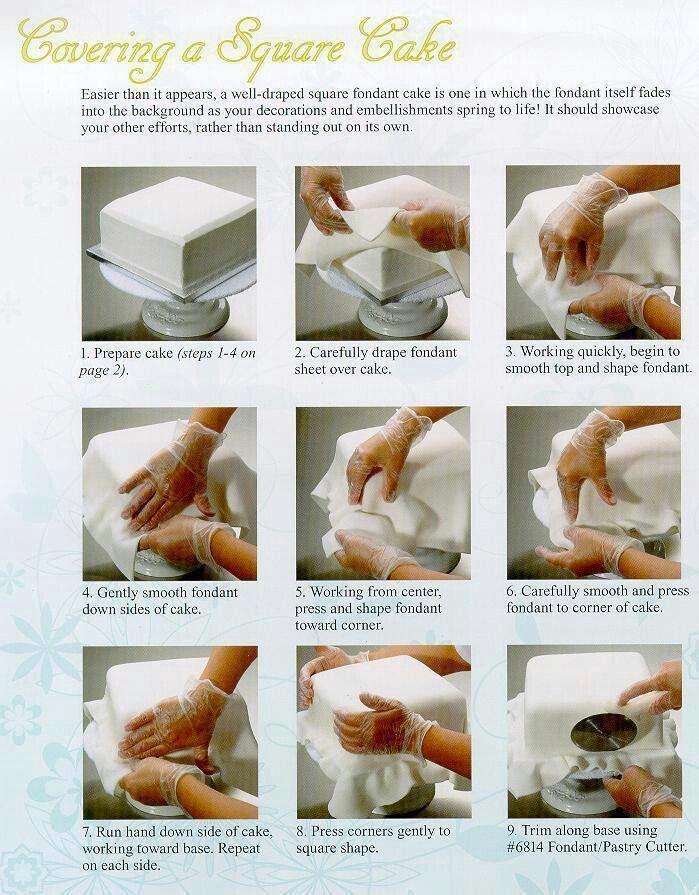 How to Fondant a Square Cake