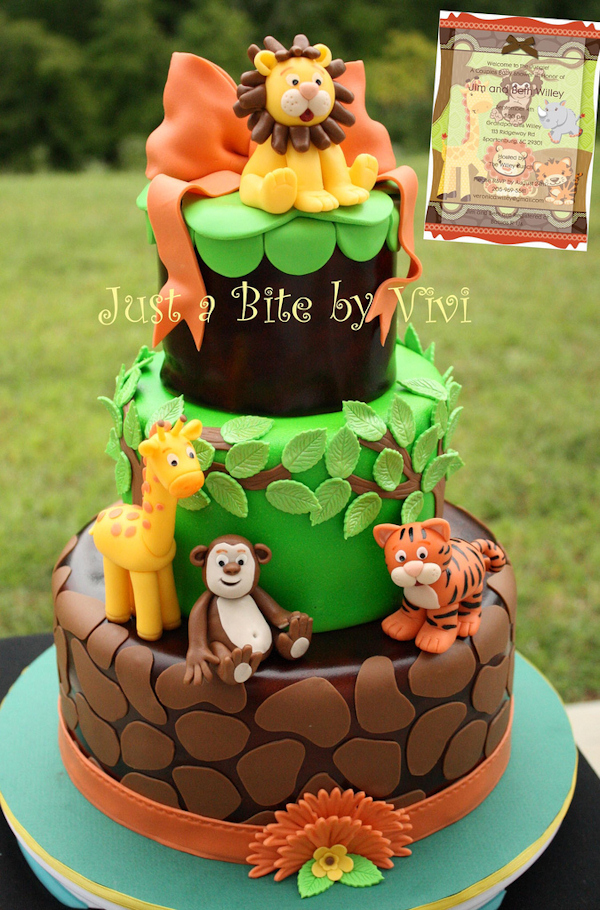 10 Photos of Jungle Safari Baby Shower Cakes