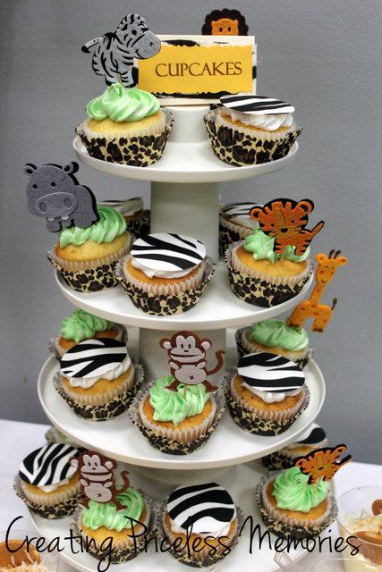 9 Photos of Jungle Safari Theme Baby Shower Cupcakes
