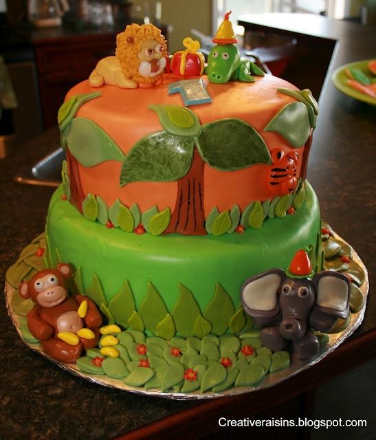 Jungle-Theme Fondant Cake