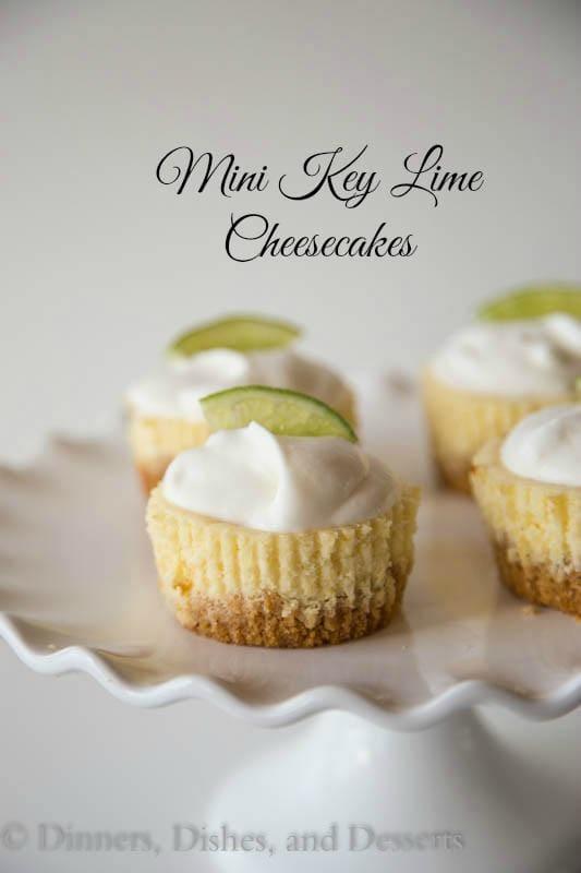 Key Lime Mini Cheesecakes