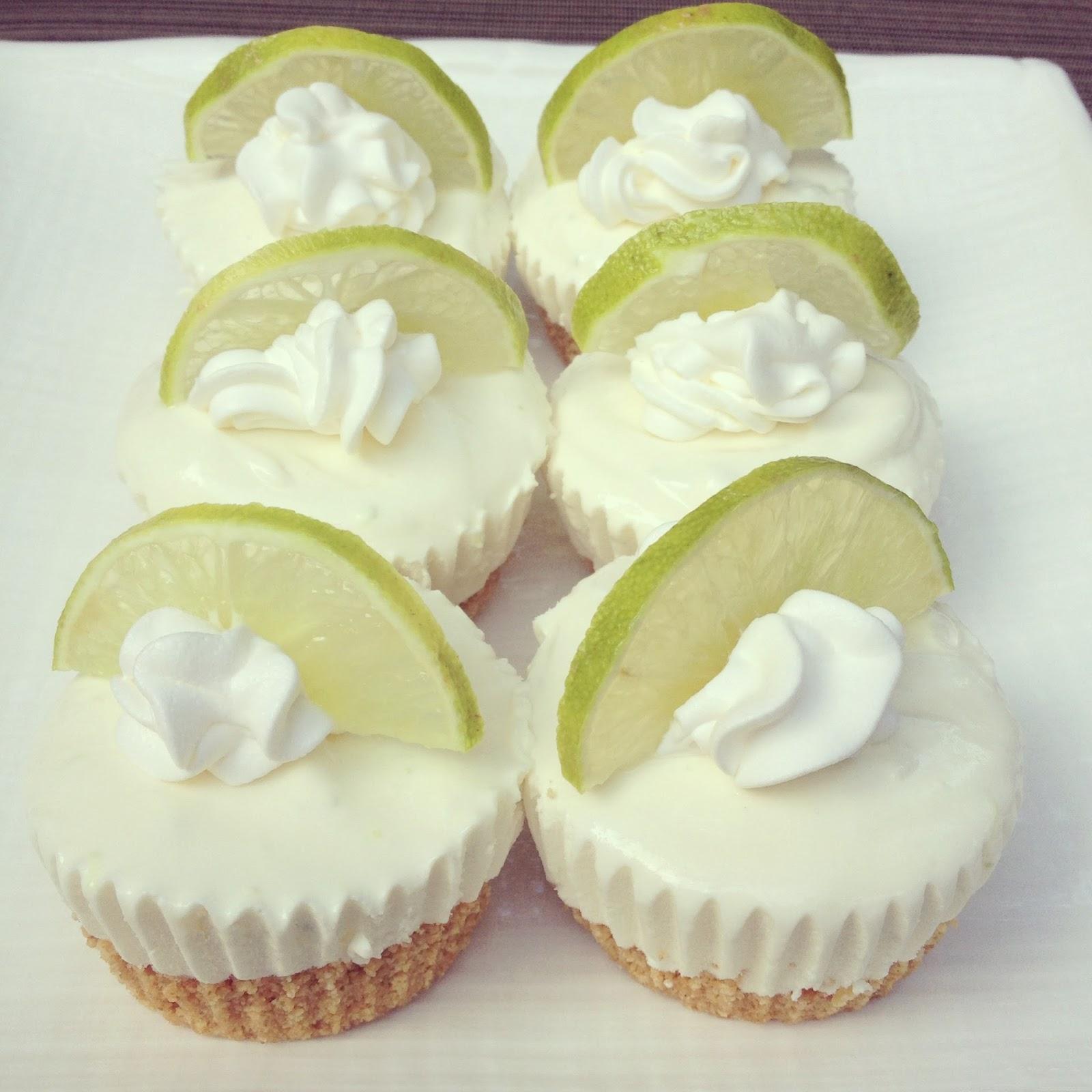 Key Lime Pie No-Bake Mini Cheesecakes