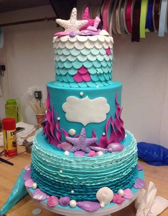 Admirable 13 Under The Sea Birthday Cakes 1 Photo Mermaid Birthday Cake Personalised Birthday Cards Sponlily Jamesorg