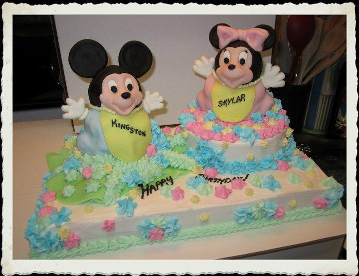 Mickey and Minnie Baby Shower Cakes