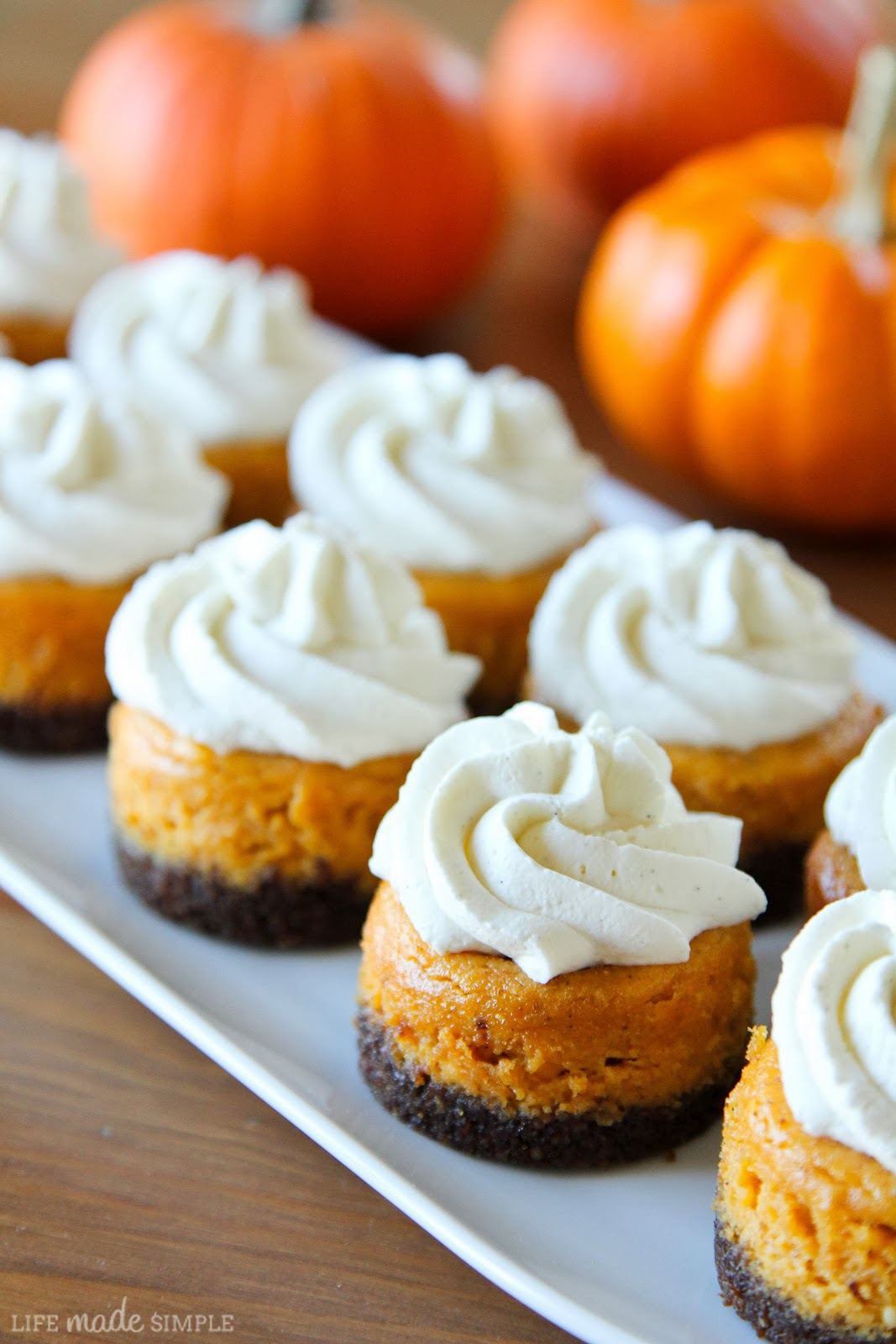 Mini Pumpkin Cheesecakes Recipe