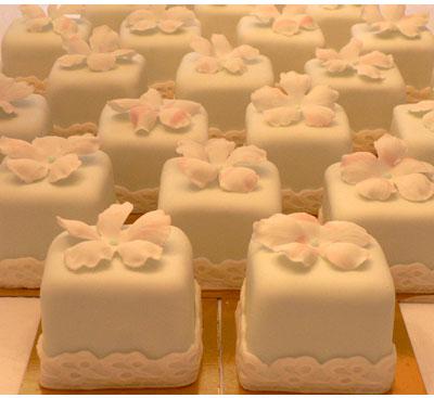 Mini Wedding Cake with Cupcakes