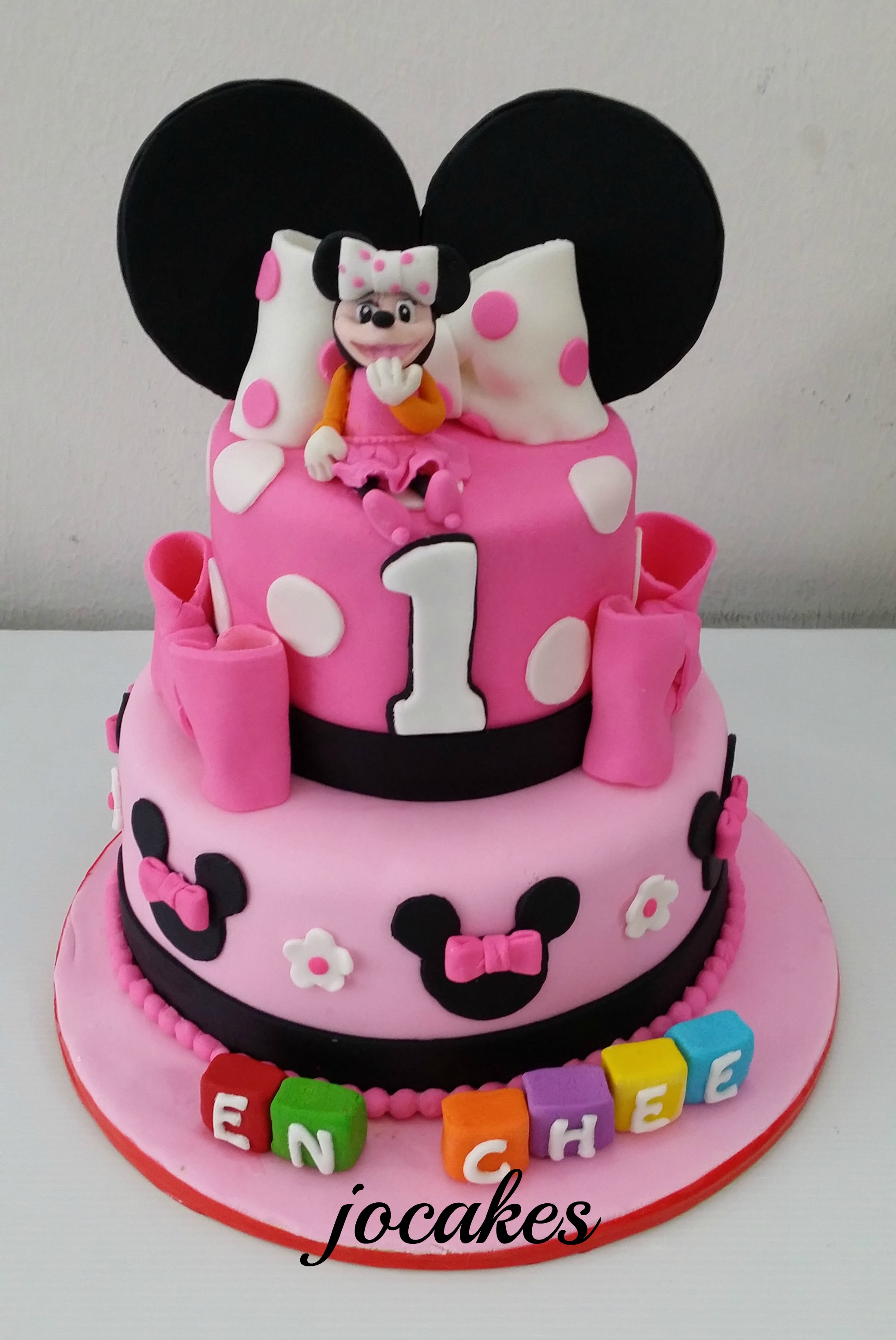 Minnie Mouse Cake 1 Year Old