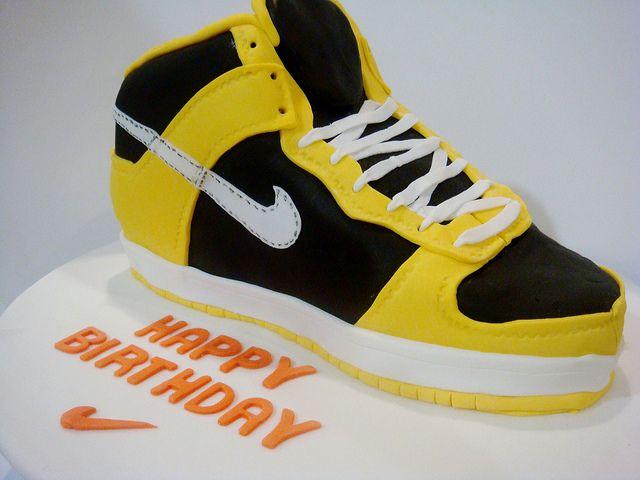 Nike Shoe Cake Template