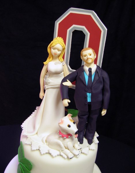 Ohio State Buckeyes Wedding Cake Topper