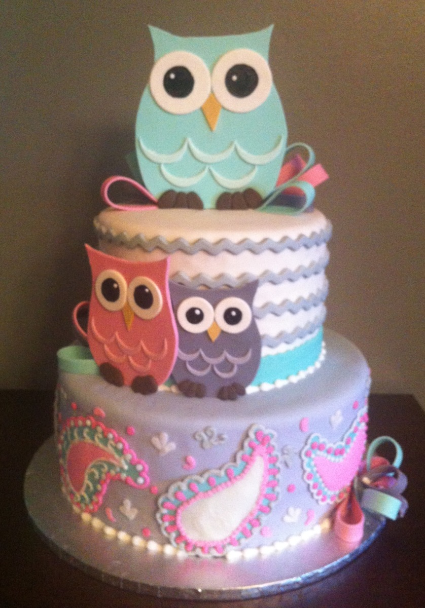 11 Photos of Decor Owls Baby Cakes