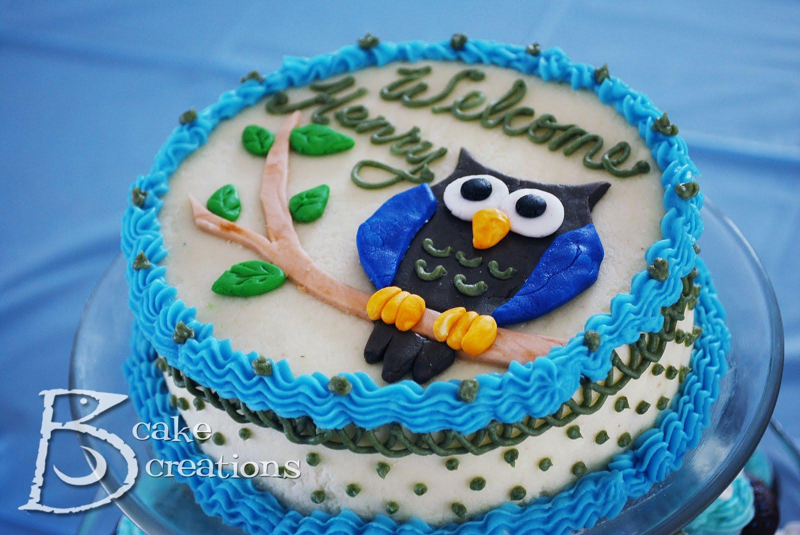 Owl Cake Decoration