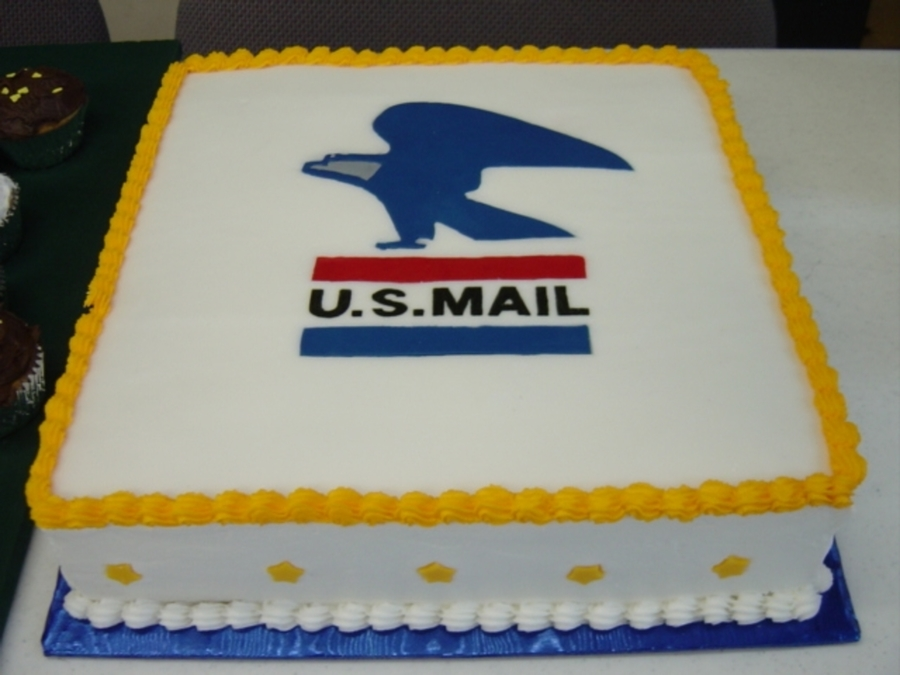 Post Office Retirement Cake
