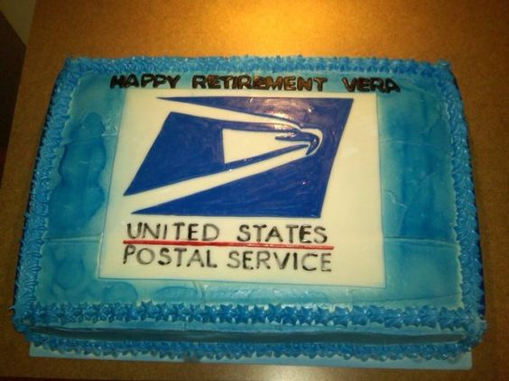 Post Office Retirement Cakes Ideas